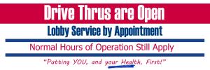 Drive Thrus Open
