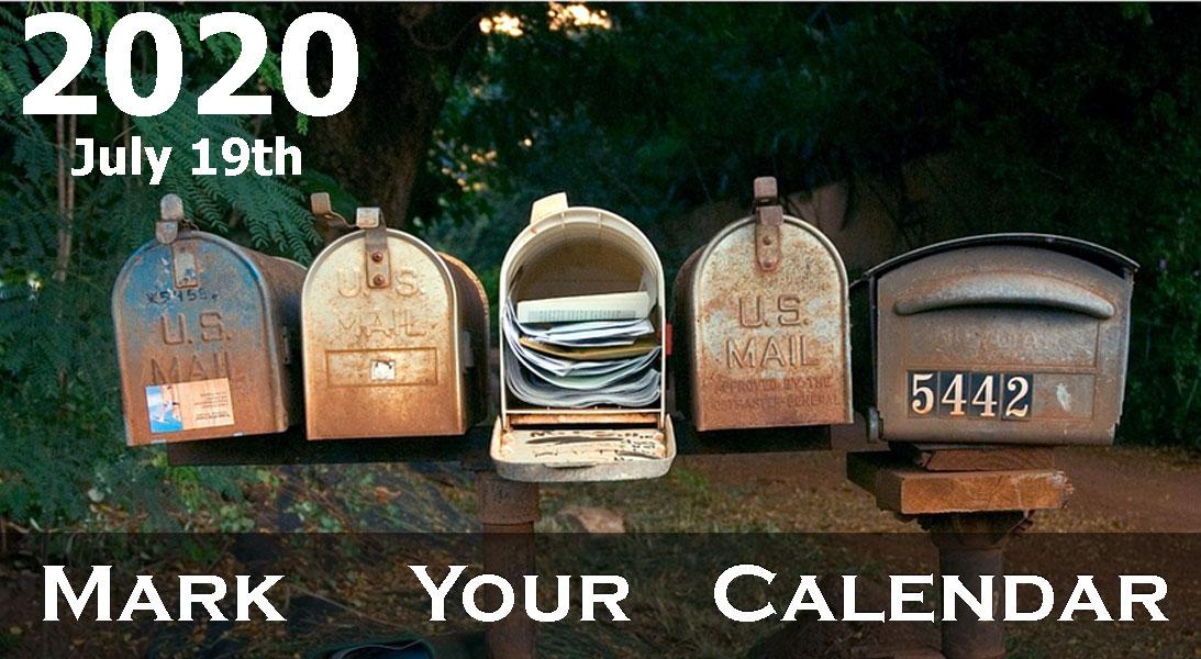 2020 July 19th Mark Your Calendar