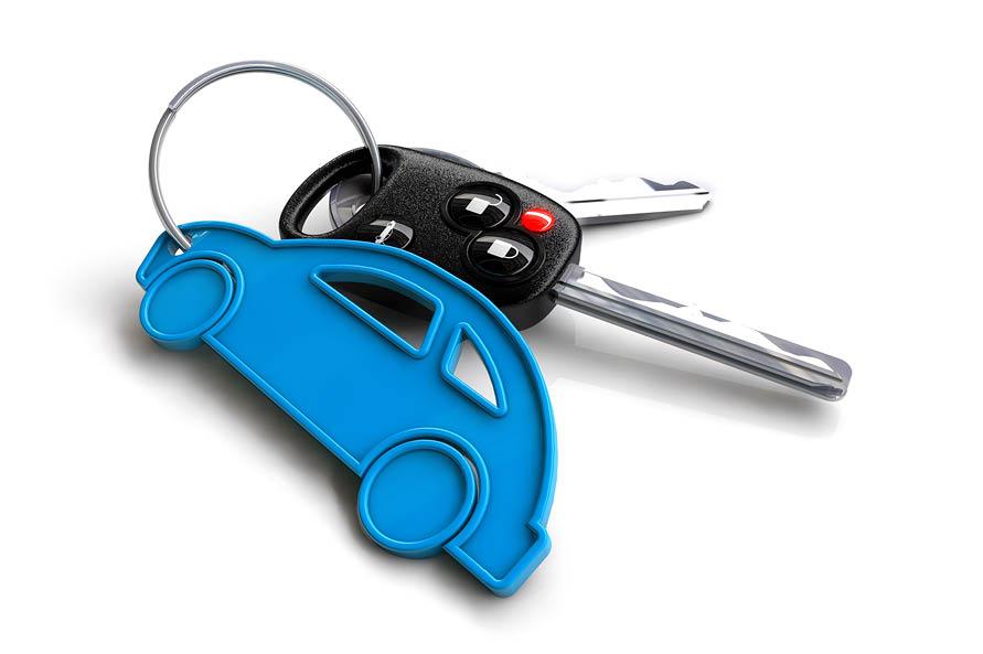 car keychain with keys